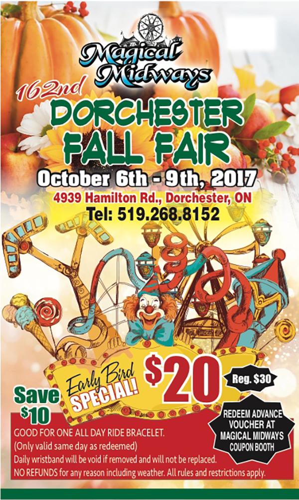 162nd Dorchester Fall Fair – Magical Midways